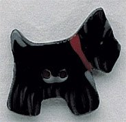 86218MH - Black Scottie Facing Right 1/2in x 1in - 1 per pkg